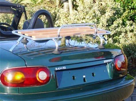 Car Luggage Racks by Classic Chrome Wood Car Luggage Rack For Mazda Mx5 Mgf Mgb