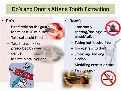 family care dental do s and dont s after tooth extraction