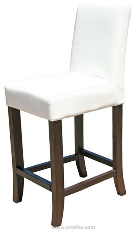White Leather Counter Height Stools Leather Counter Stool 26 Quot Seat Height White
