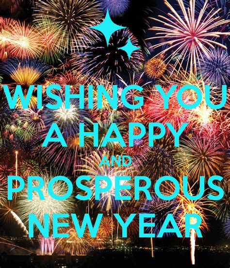 wishing you a prosperous new year wishing you a happy and prosperous new year poster