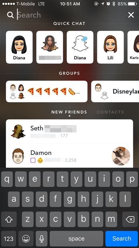 Chat Bar Top Friends by Snapchat For Ios Gets Big Redesign Along With Search
