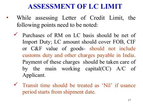 Letter Of Credit Charges In India Letter Of Credit
