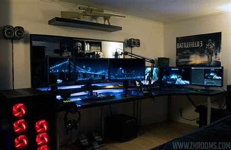 Skyrim Home Decorating by 30 Coolest And Inspiring Multi Monitor Gaming Setups