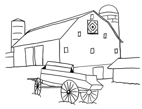 simple barn coloring page www pixshark com images