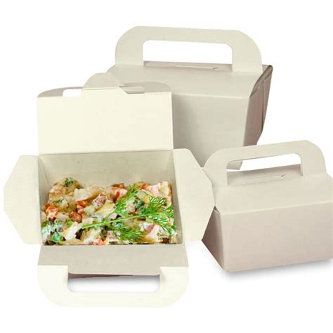 Paper Mat by Eco Take Out Box With Handles