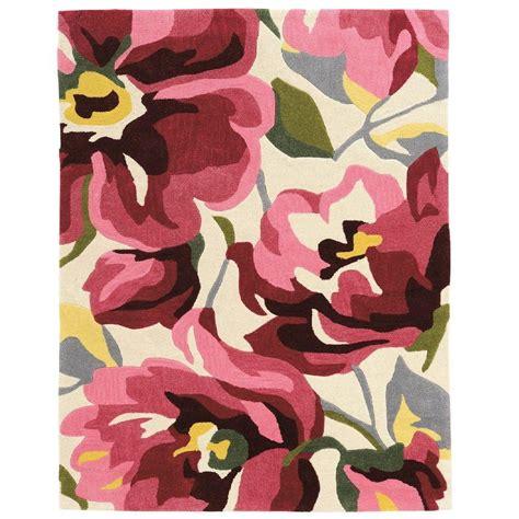 linon home decor trio pink magenta 5 ft x 7 ft indoor