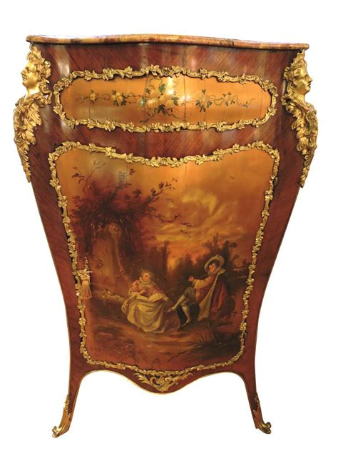 french recliner french bronze mounted corner cabinet with hand painted