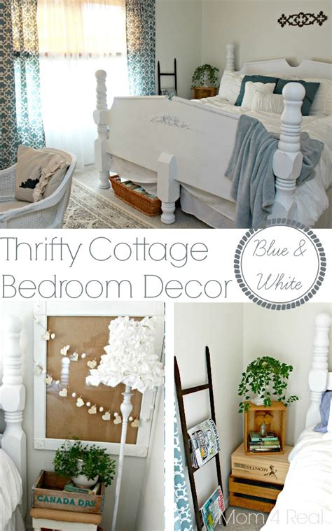 thrifty blue white cottage bedroom makeover 4 real