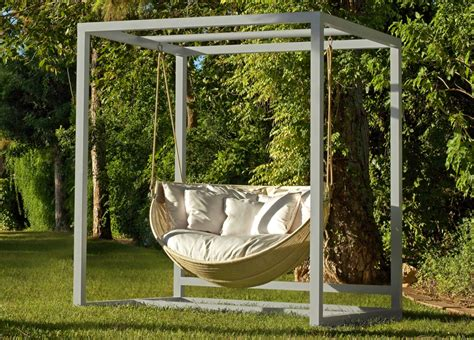 swinging garden sofa armadillo swinging garden sofa contemporary garden