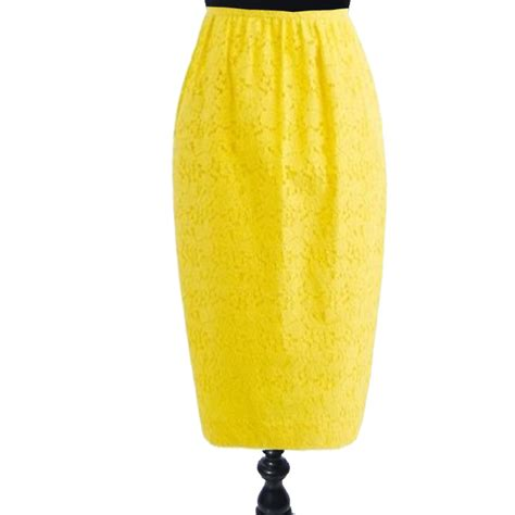 yellow pattern pencil skirt yellow lace pencil skirt elizabeth s custom skirts