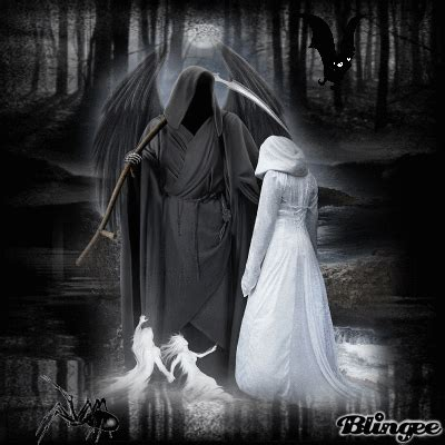 wallpaper gothic couple girl meets grim reaper picture 126178876 blingee com