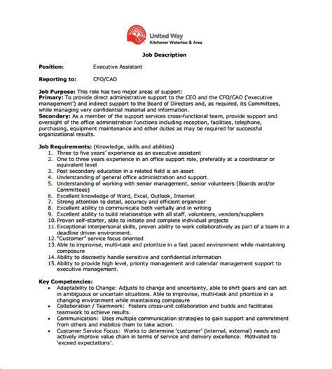 cfo templates 10 chief financial officer description templates