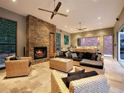 feature wall ideas living room with fireplace open flow in the family room the design anatomy of the