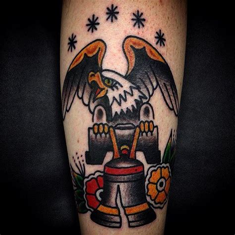 liberty bell tattoo traditional eagle liberty bell by justin wayne