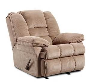Cloth Recliners On Sale Simmons Chion Fabric 3 Way Rocker Recliner On Sale