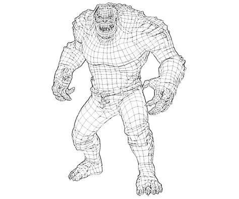 batman arkham city killer croc weapon how coloring