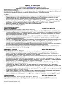 Bi Manager Cover Letter by Sap Resume Sle Stunning Ideas It Resume Sles 14 Information Technology It Sle Resume