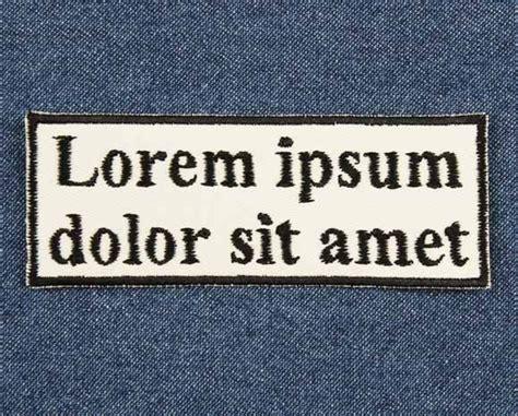 Lorem Ipsum Text Vorlage lorem ipsum placeholder text patch barefoot sewing