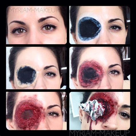 tutorial latex halloween maquillage halloween oeil transperc 233 myriam poulet