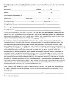 disclaimer template for sport youth sports release form in word and pdf formats