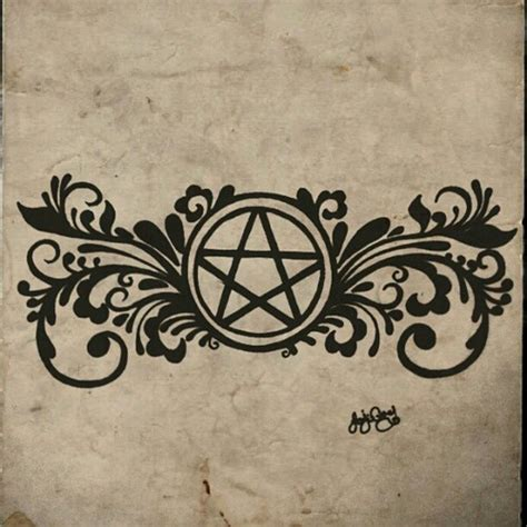 pentagram tattoo wiccan pentacle www imgkid the image kid