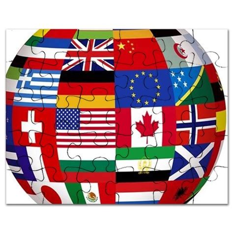flags of the world puzzle floating globe covered with world flags puzzle by admin