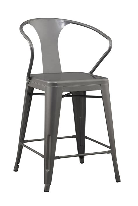 24 inch chairs with arms 24 inch solid steel stacking industrial silver tabouret