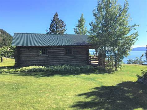 authentic montana log studio cabin overlooking flathead lake yellow bay montana rentbyowner