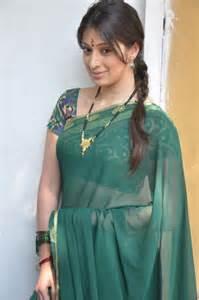 Slide Bed Actress Lakshmi Rai Green Saree Pictures