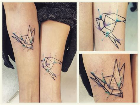 geometric heart tattoo geometric swallows with splashes tattoos done by me