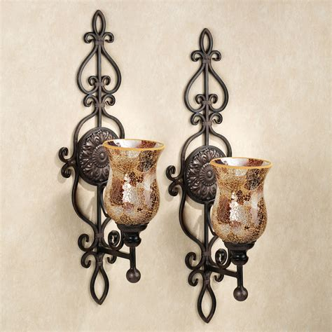 sconces wall decor metal wall sconces mosaic candle wall sconces large