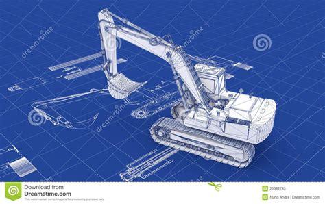 blueprint online free excavator blueprint stock illustration image of loader