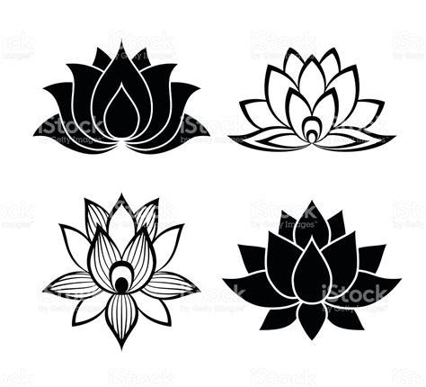 lotus tattoo vector lotus flower signs set stock vector art 494162420 istock