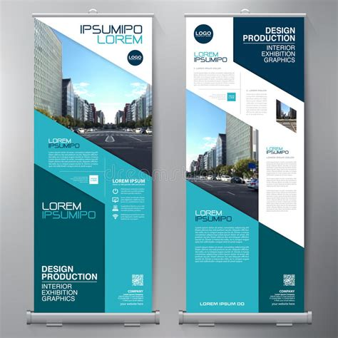 design banner publisher business roll up standee design banner template stock