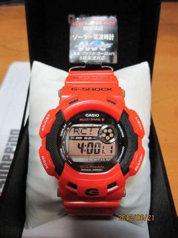 casio gshock original gw 9100r 4jf casio g shock gulfman gw 9100r 4jf orange shopping in