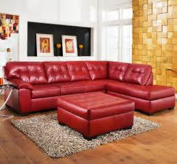 Ashley Couch With Chaise Red Couch Red Leather Couch