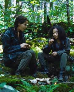 katniss and rue in the hunger games hunger pinterest