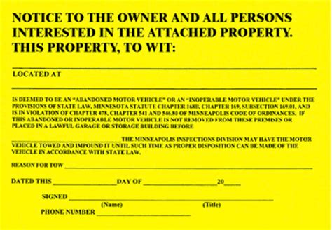 sle eviction notice nc abandoned vehicle letter to owner best vehicles 2017