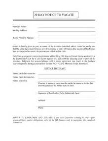 30 Day Letter To Vacate by 30 Day Notice To Vacate Letter Best Business Template