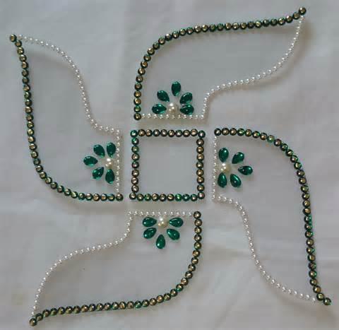Decorated Vase Decorated Swastik Rangoli Craft Shops India