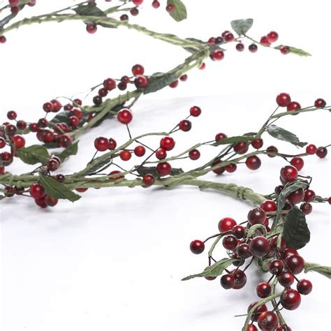 artificial berry and leaf garland garlands floral