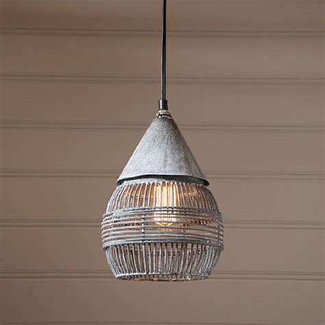 Farmhouse Pendant Lights Retro Cage Pendant Hanging Industrial Farmhouse Light In Weathered Zinc Chandeliers