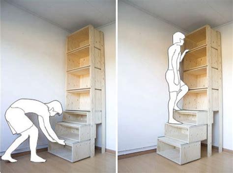 Tall Slim Bookcase Machbar Regal Mit Integrierter Treppe Stylespion
