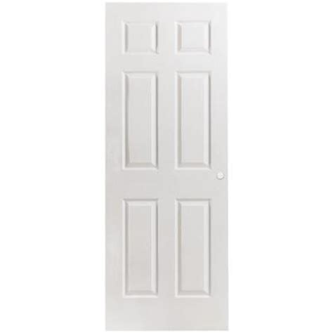 6 panel interior doors home depot masonite 24 in x 80 in textured 6 panel hollow primed composite interior door slab with