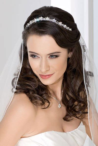 Wedding Hairstyles With Tiara And Veil by Wedding Hairstyles For Hair With Veil With Tiara 2014
