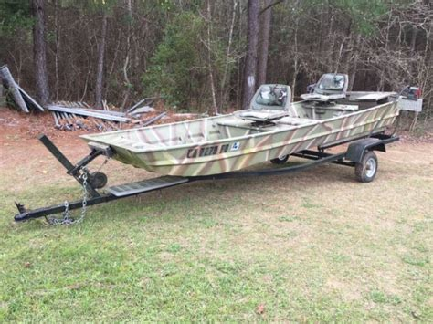 aluminum boat trailers for sale in louisiana duck hunting boat 14 ft aluminum w trailer for sale in