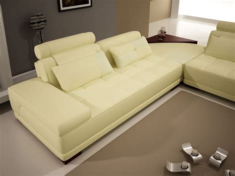off white sectional 5005b modern off white leather sectional sofa