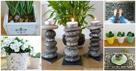 Garden Decoration With Pebbles by 20 Diy Decorations To Make With Pebbles