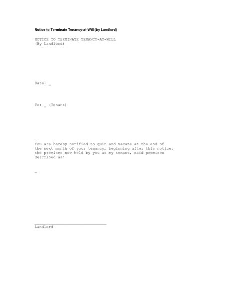 tenancy termination letter template uk notice of termination of tenancy letter sle uk 45