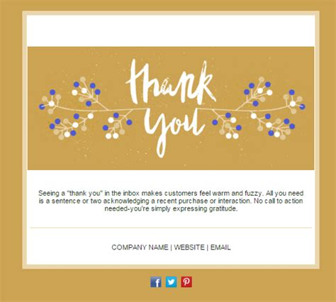 Thank You Card Email Template tired of your newsletter design 14 email templates to spark new interest 187 mango marketing